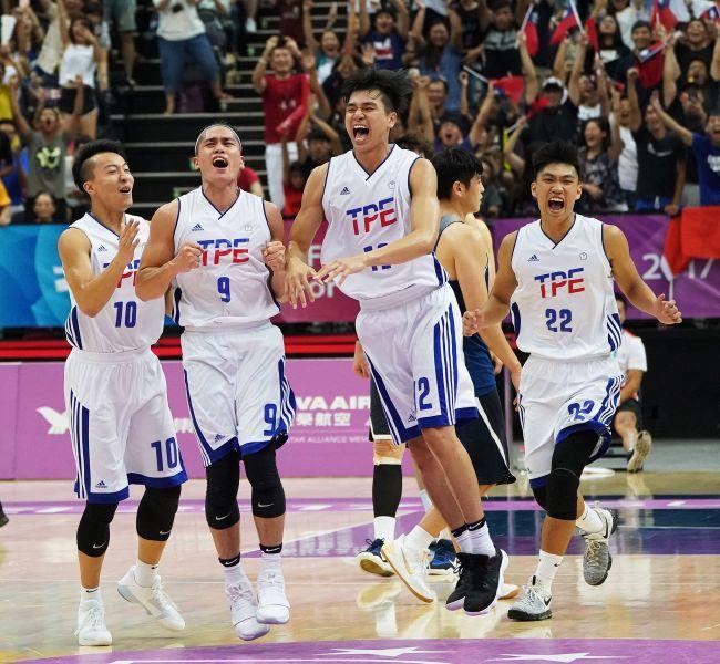 中華男籃力克南韓。李天助攝