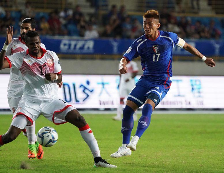 陳柏良射進扳平一球。中華民國足球協會提供