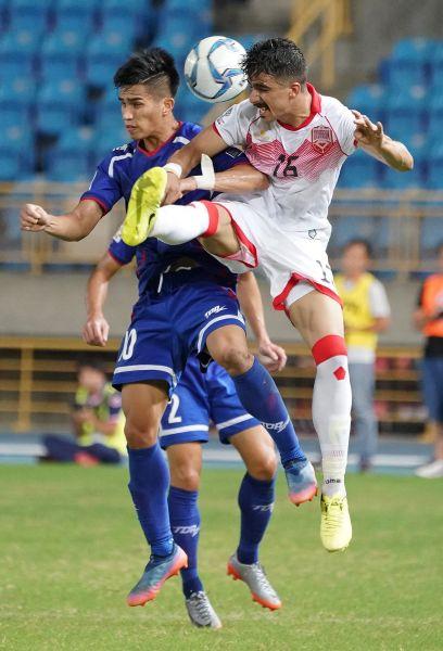 陳浩瑋(左)表現也非常搶眼。中華民國足球協會提供