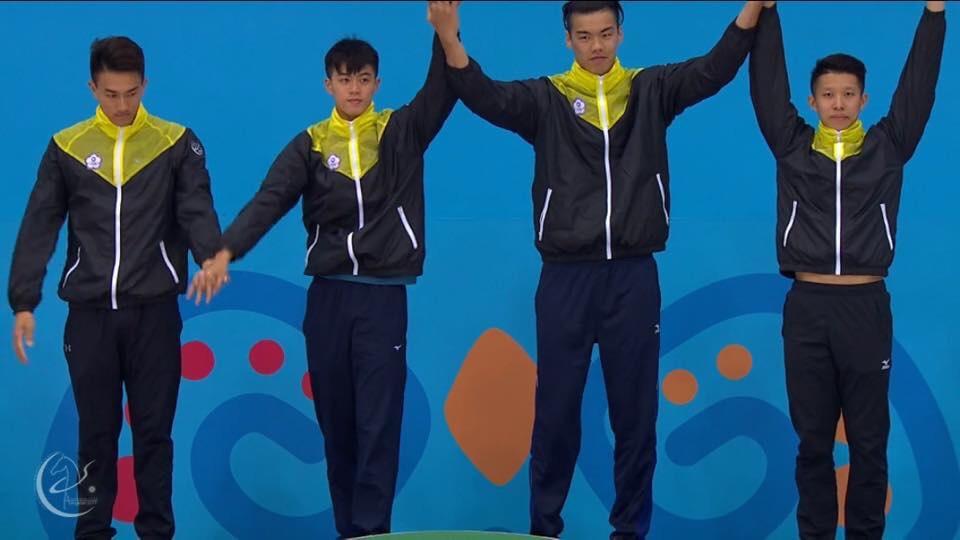 中華四泳士破大會紀錄奪金。中華民國游泳協會