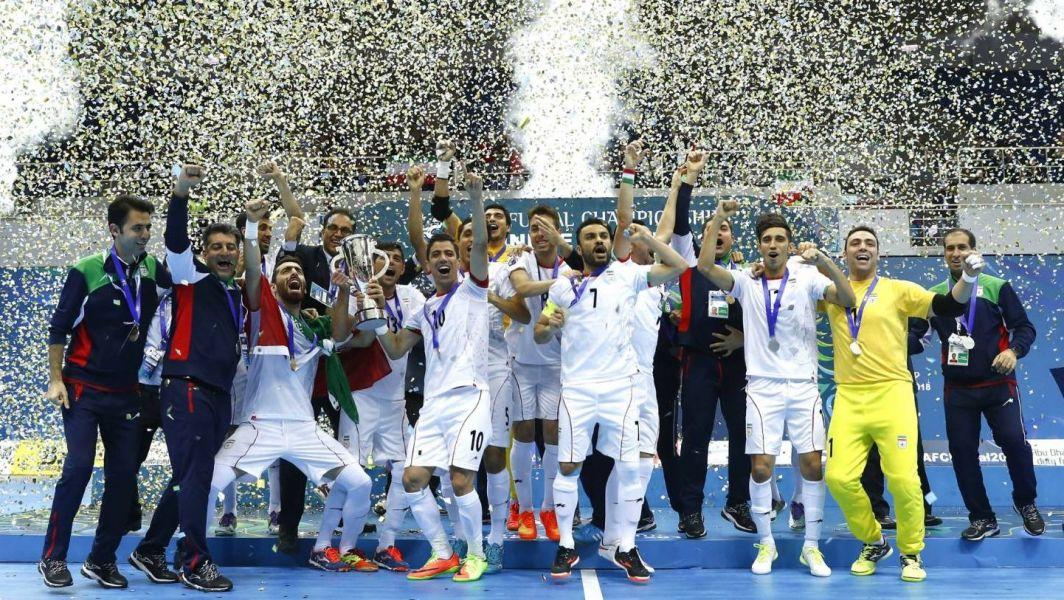伊朗第12度舉起冠軍。亞足聯提供