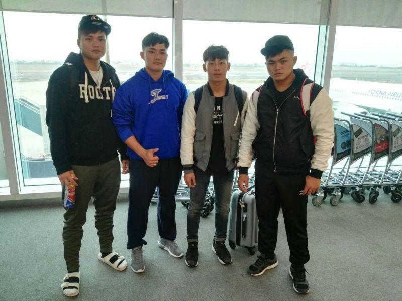 加州冬季聯盟報名球員(左至右陳約瑟、張富原、曾國禎、彭庭韋)。圖/帕菲克經紀提供