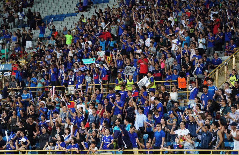 全場八千球迷沸騰。中華民國足球協會提供