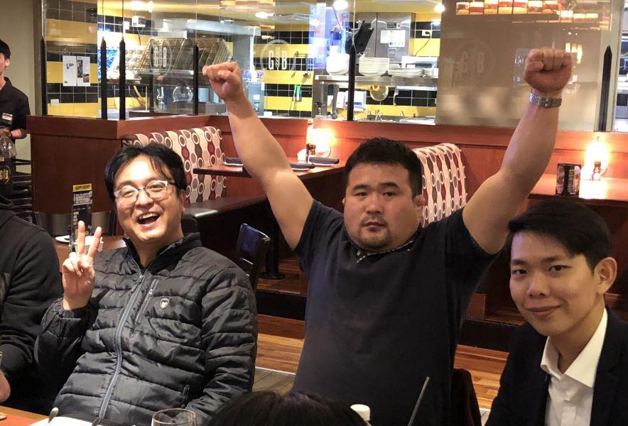 TFC創辦人河東振(中)興奮表示:「台灣,我們來了!」中華民國綜合格鬥協會提供