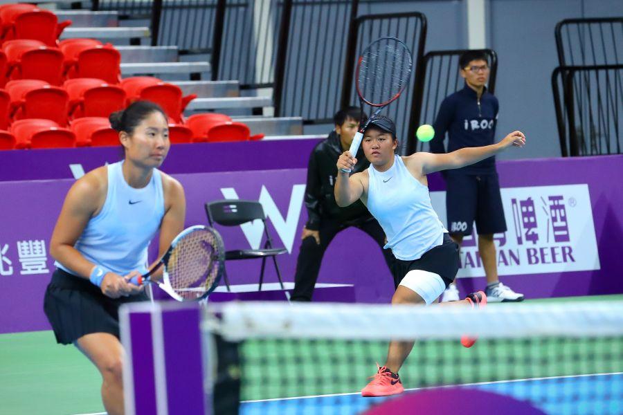 澳網青少女雙料冠軍梁恩碩感受職業戰力。WTA臺灣公開賽大會提供