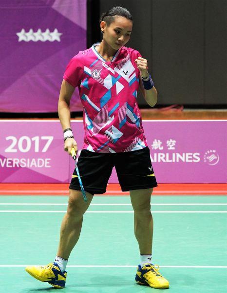 順利拿下比賽,晉級香港羽賽四強的台灣女單戴資穎/資料照片