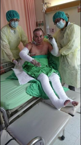 昏迷28天,嘉舜在拔管前一刻,奇蹟似地恢復自主呼吸。圖/公關提供