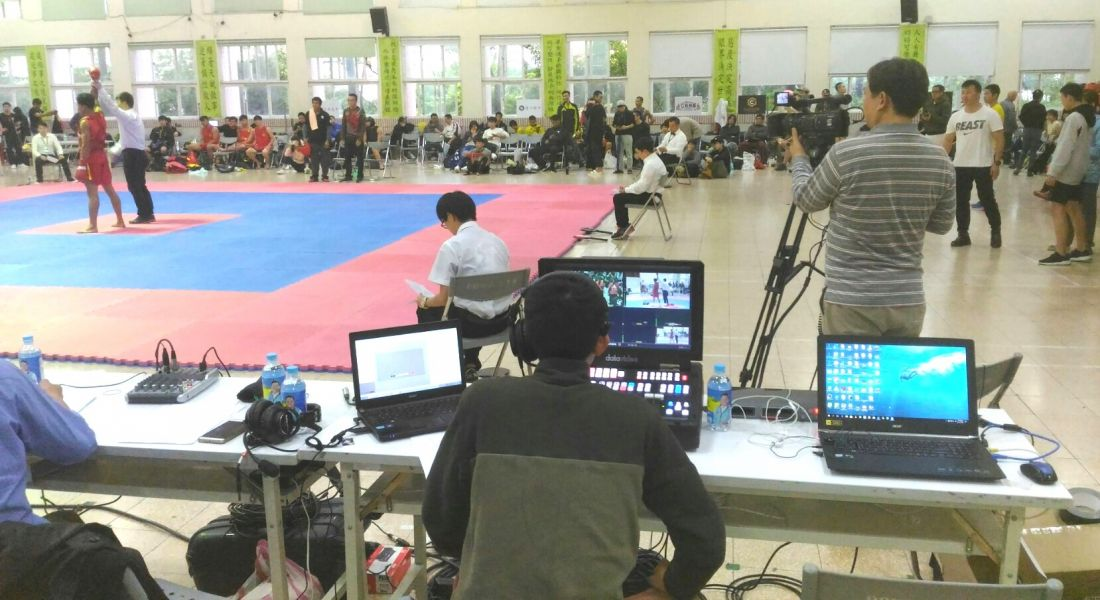 智林體育台以網路轉播協助散打搏擊運動。