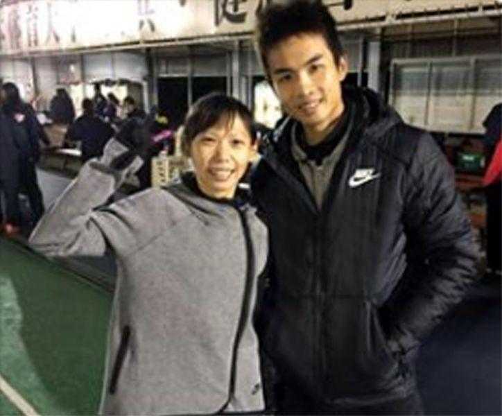 曹純玉和教練男友陳囿任。田都元帥工作室/提供。