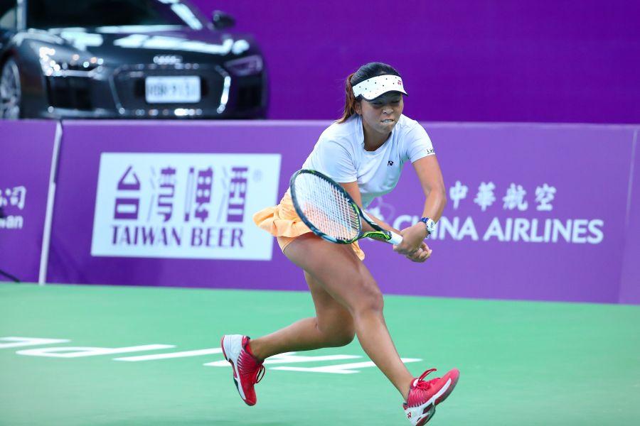 李珮琪也沒能闖過頭關。WTA臺灣公開賽大會提供