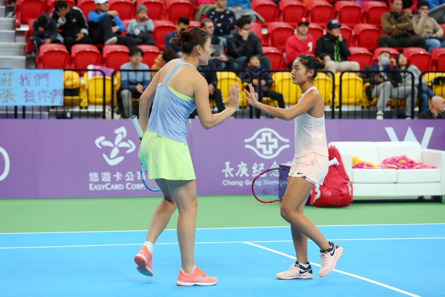 中國組合段瑩瑩/王雅繁封后。WTA臺灣公開賽大會提供