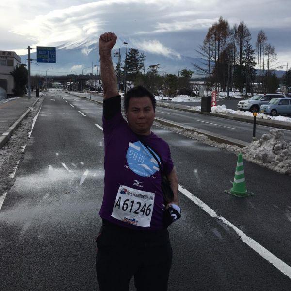 為證明自己還能跑步,嘉舜獨自到日本跑富士山馬拉松。圖/公關提供