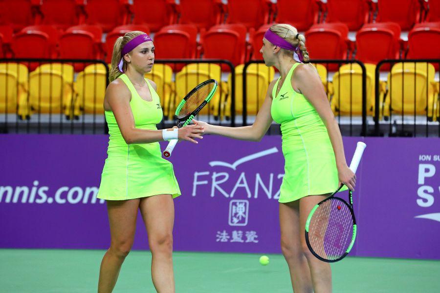 烏克蘭雙打組合,左為姐姐Nadiia Kichenok_右為妹妹Lyudmyla Kichenok 。WTA臺灣公開賽大會提供