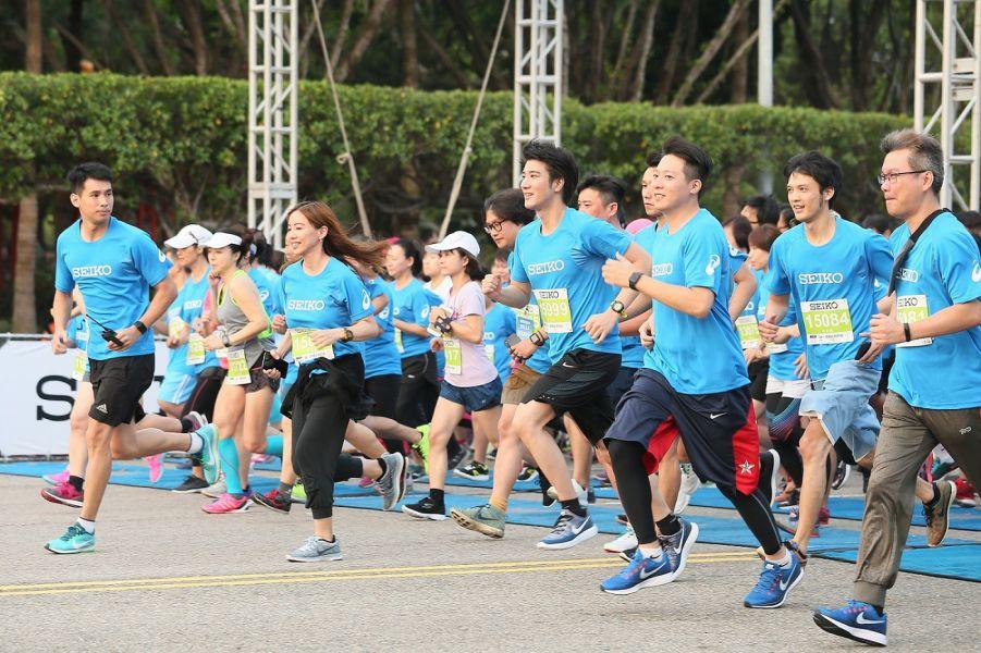 王力宏再度挑戰3公里賽程,精準備戰,超越自我。(主辦單位提供)
