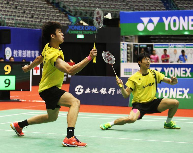台灣男雙陳宏麟(右)王齊麟輕鬆取勝闖進八強/資料照片