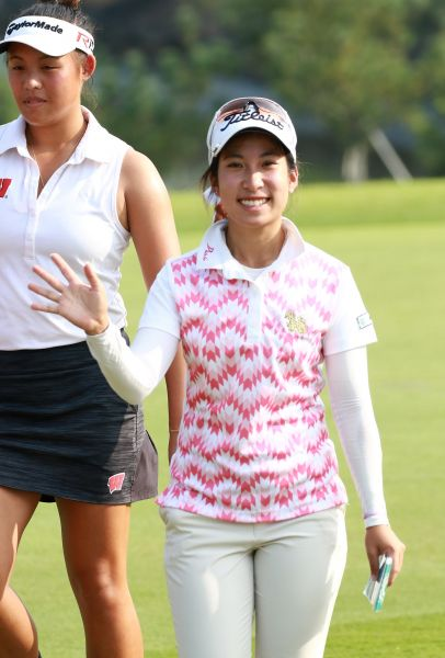 第二回合泰國娜塔吉特兩天成績(-8)暫並列領先。圖/大會提供(鍾豐榮攝影)