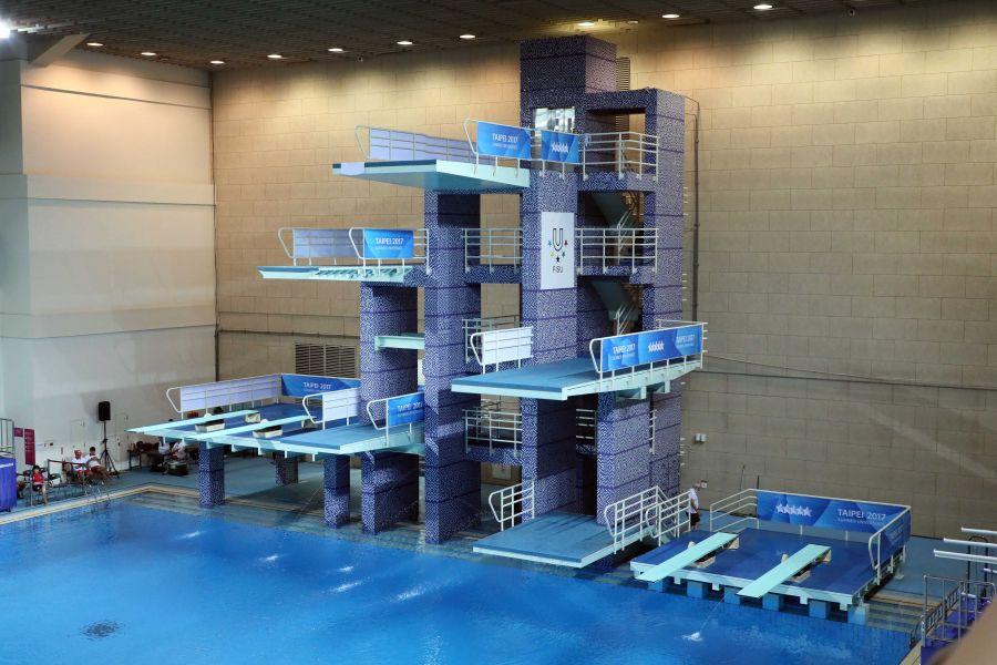 第二屆台北城市盃跳水邀請賽暨總統盃跳水邀請賽在臺北市立大學詩欣館舉行。圖/大會提供