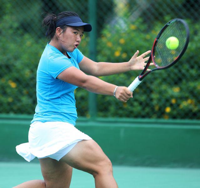 梁恩碩成台灣史上第四位闖進大滿貫青少女雙打決賽的台將。資料照片