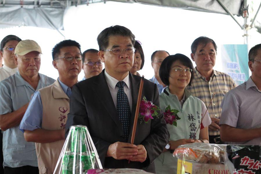 蔡清華董事長親臨主持國訓中心宿舍的動土典禮。圖/國訓提供