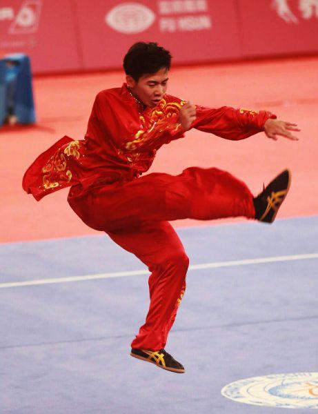 陳宥崴在太極拳摘下銀牌。圖/李天助攝