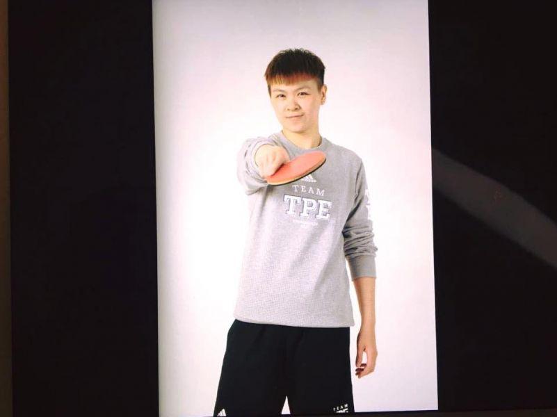 陳思羽是第一位公開參選的桌球選手。摘自陳思羽臉書
