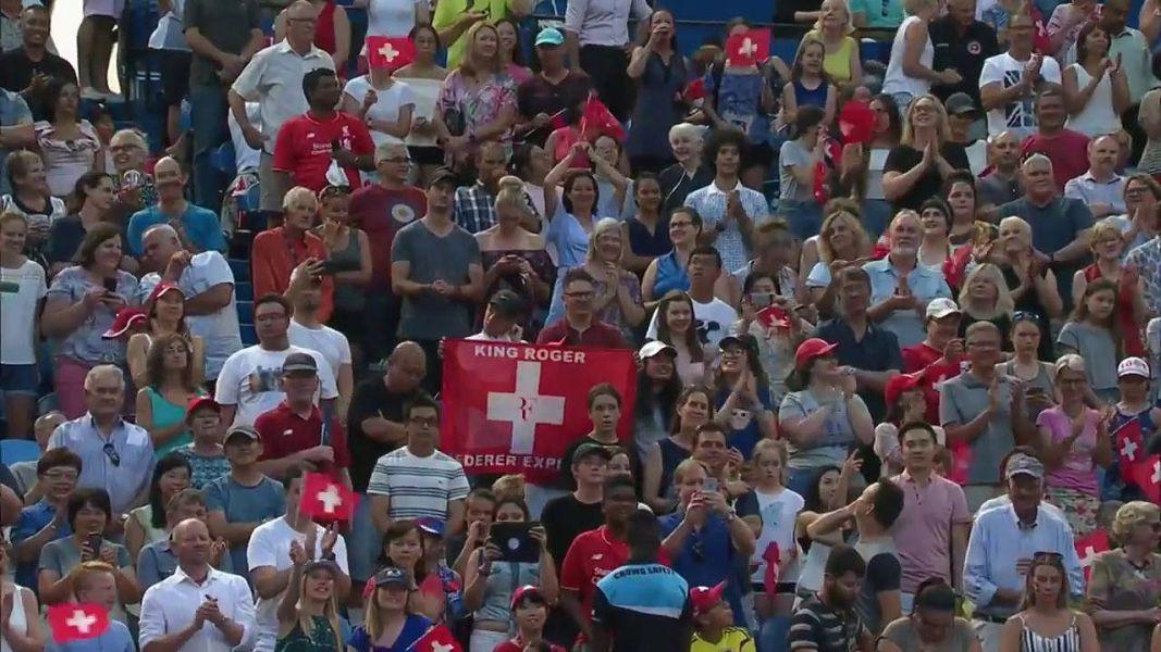 場內擠滿費德勒的球迷。摘自官網