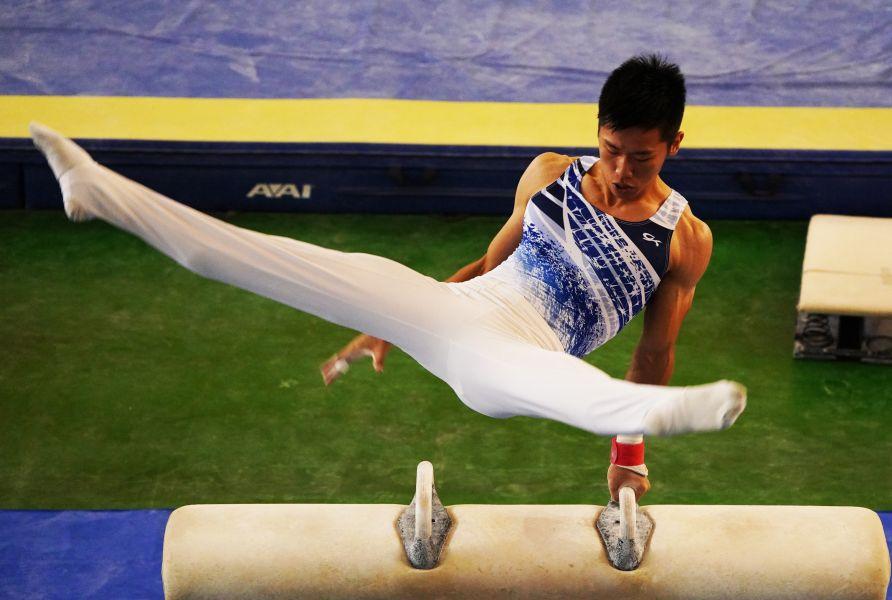 體操李智凱也曾經是宜蘭的好手。李天助攝