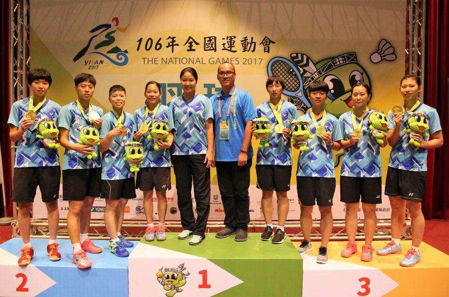 高雄市女隊驚險勝出,搶下女團金牌、尋求衛冕成功/黃秀仁攝