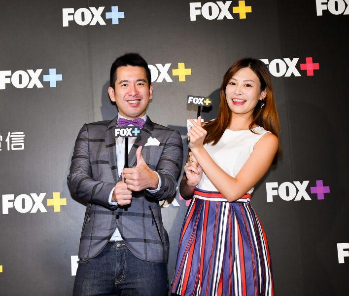 FOX體育家族世界體育中心主播陳宏宜與詹可旬。Fox提供