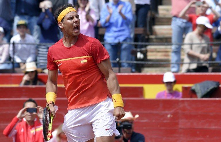 納達爾打出法網冠軍的希望。法新社