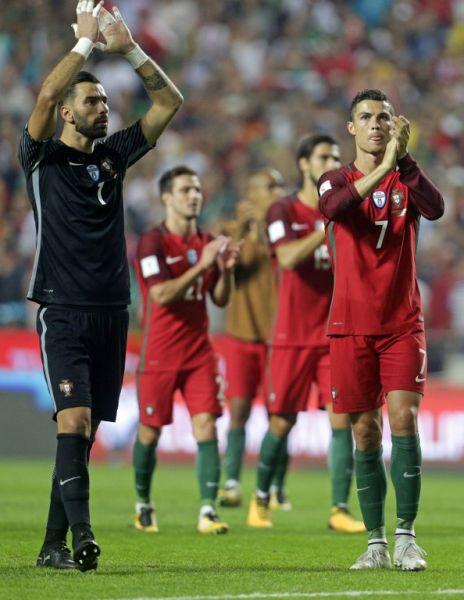 2018世界盃有梅西的阿根廷,當然也少不了C羅(右)的葡萄牙。法新社