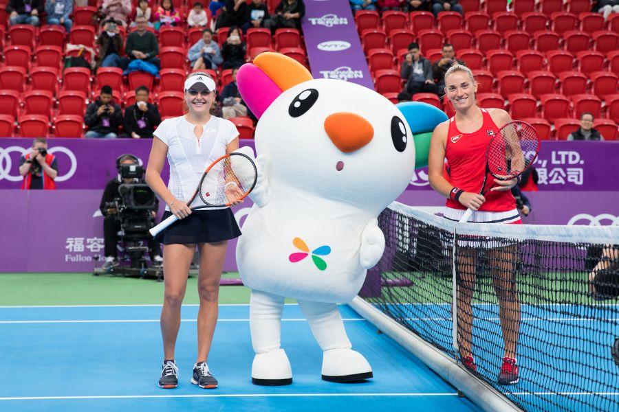 單打決賽由東歐美女球星對決。WTA臺灣公開賽大會提供