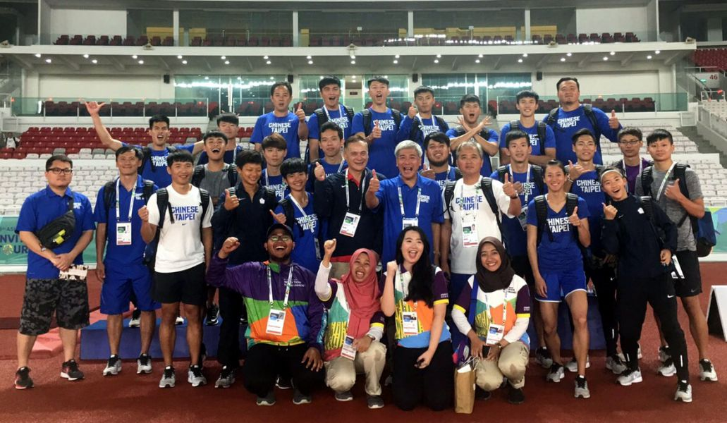 中華隊在亞運田徑測試賽共獲得二金五銀二銅。田徑協會/提供。