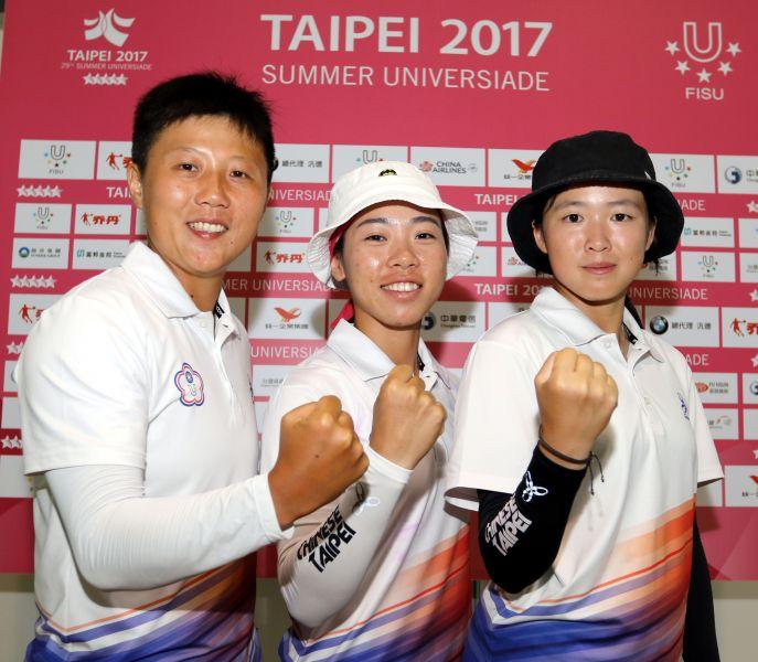 中華女子隊在反曲弓團體賽排第二。