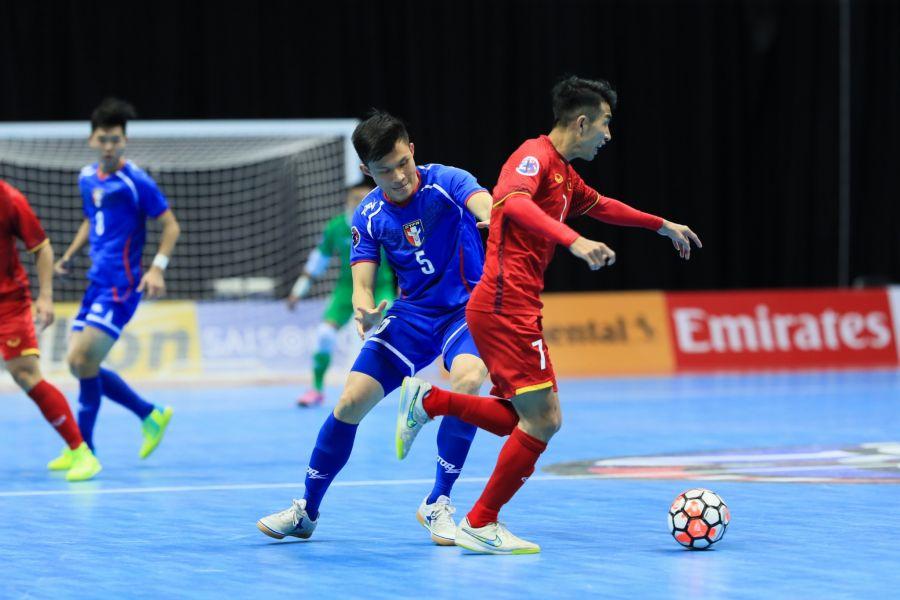 中華隊沒能擋住越南反攻惜敗。中華民國足球協會提供