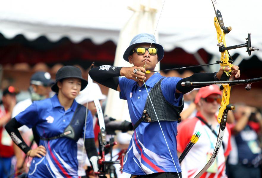 中華隊魏均珩/彭家楙在八強止步。世大運組委會/提供。