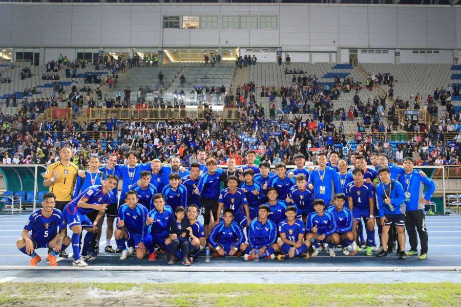 中、新之戰,全場擠進近九千人進場。中華民國足球協會提供