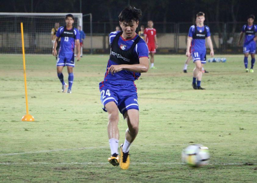 U19隊長涂紹捷可望在國家隊首度登場。中華民國足球協會提供