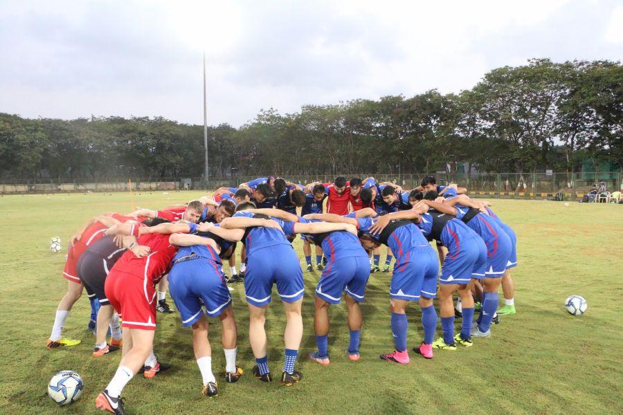 中華男足在印度接受嚴格的挑戰。中華民國足球協會提供