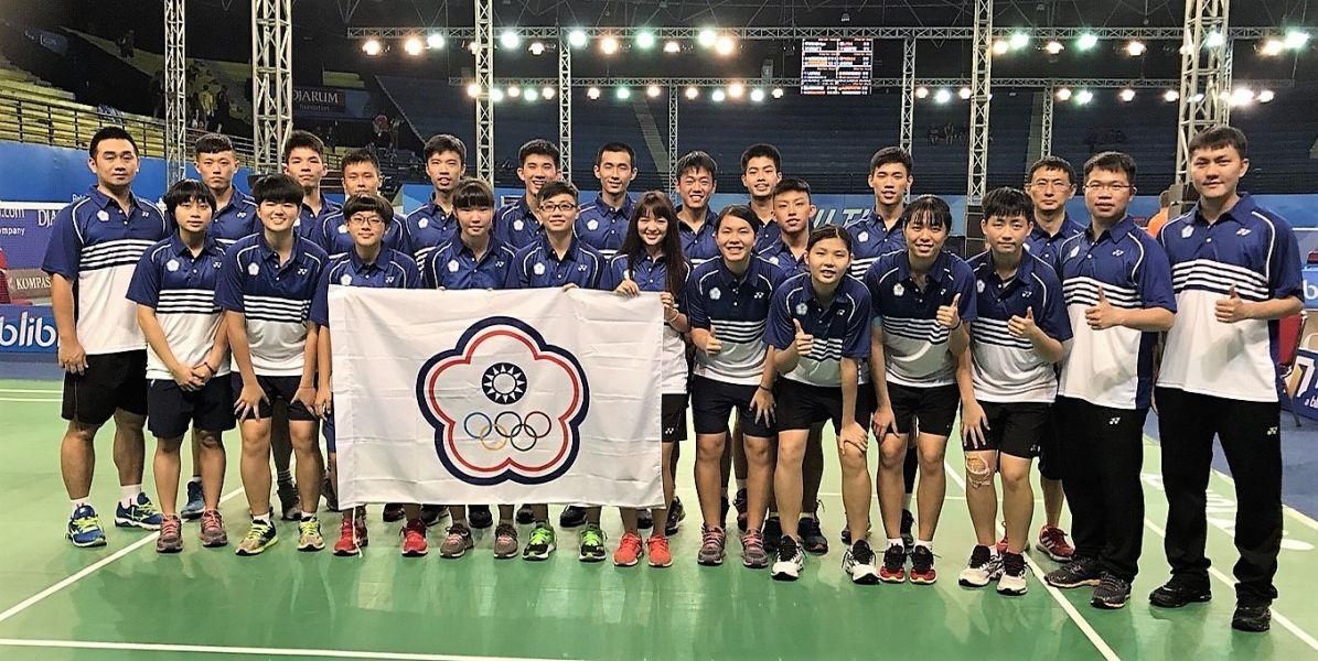 參加今年世青羽賽的台灣代表隊/台灣羽隊教練團提供