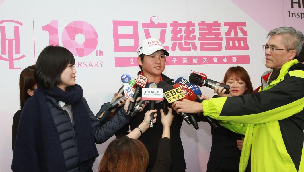 2018日立慈善盃記者會後,前世界球后曾雅妮接受媒體訪問。圖/大會提供