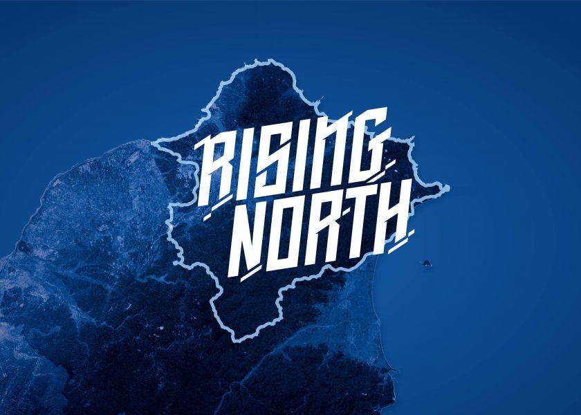 富邦悍將年度口號Rising North。圖/富邦悍將提供