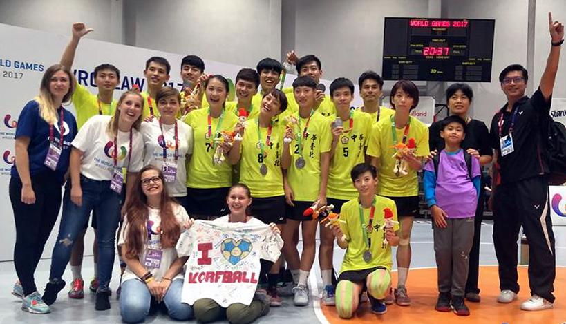 中華合球隊首度在世運會奪銀。圖/中華民國合球協會臉書。