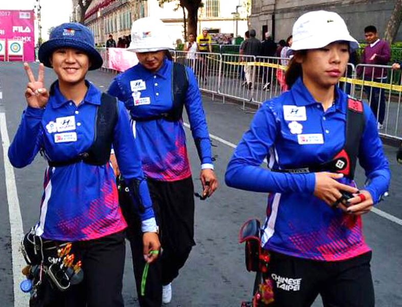 中華女子反曲弓隊。威哥/提供。