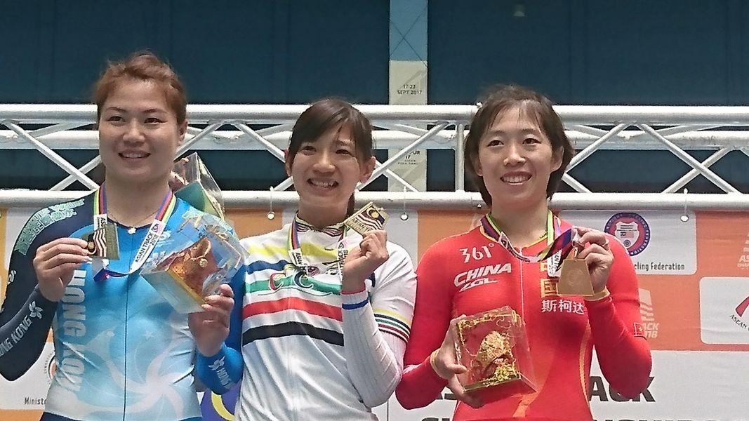 暌違3年,黃亭因再獲集體出發賽金牌。中華民國自由車協會提供