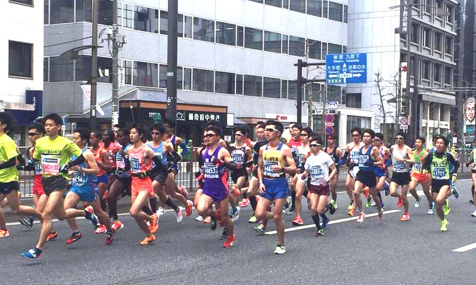 東京馬拉松賽。簡省豪/提供。