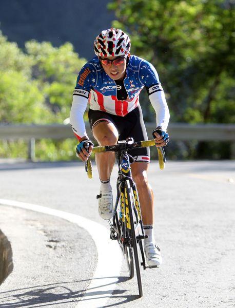 張家豪一度單飛。中華民國自行車騎士協會/提供