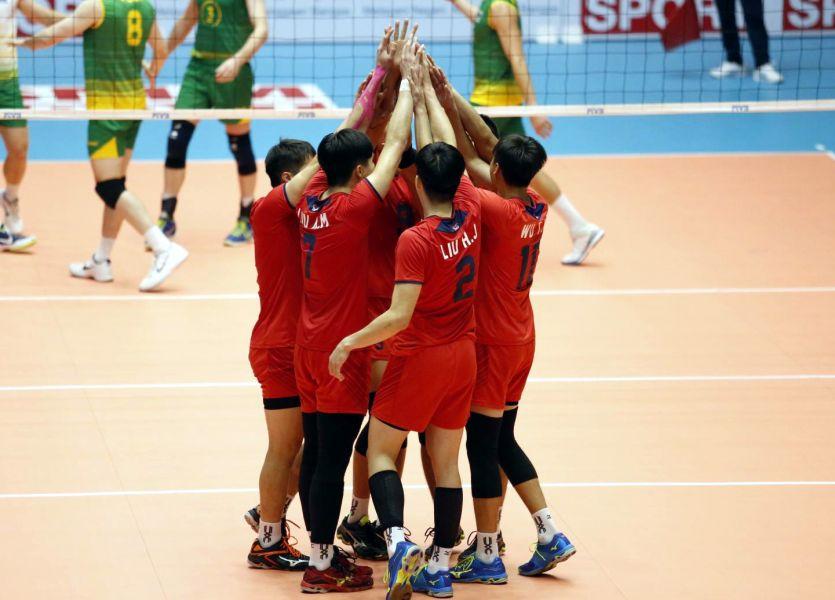 中華男排3:1勝澳洲。圖/AVC。