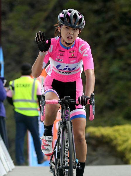 2017臺灣自行車登山王挑戰國內女子組冠軍陳姿吟 。中華民國自行車騎士協會/提供。