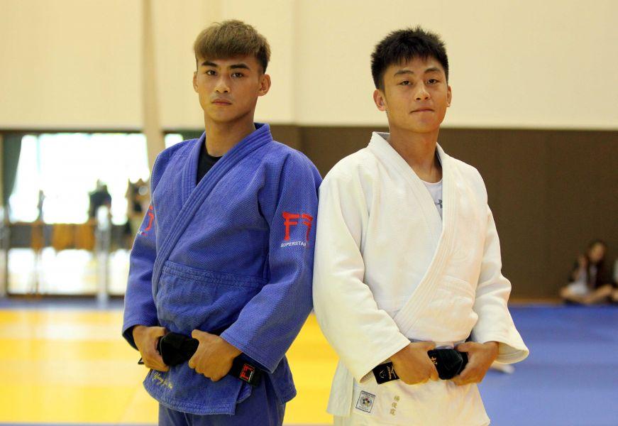 楊俊霆(右)、楊勇緯兄弟檔。林嘉欣/攝影。